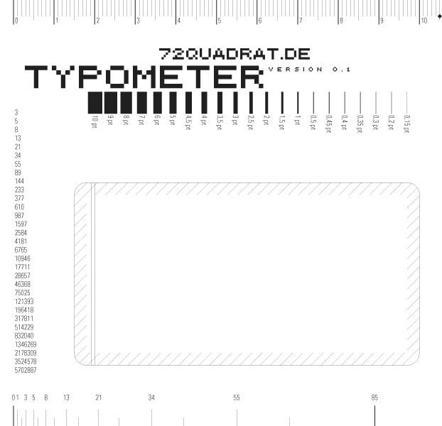 Das 72Quadrat-Typometer (bald)