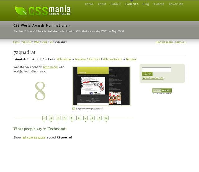 Herzlich Willkommen von CSS Mania