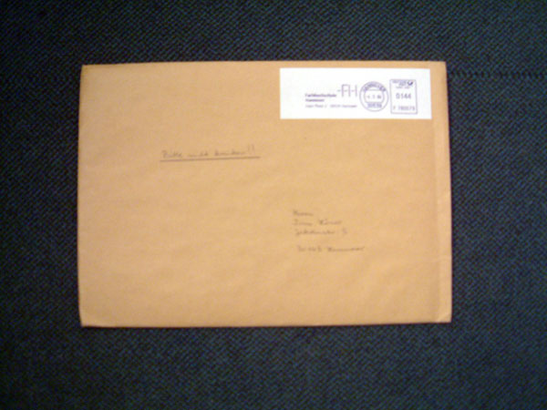 Diplom Urkunde ist angekommen