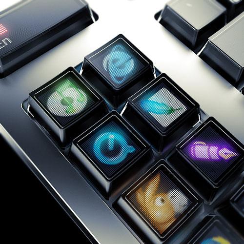Jede Taste ein Bildschirm