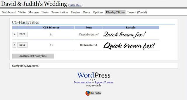 Eigene Typo im Web dank sIFR